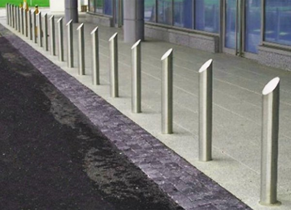 125mm Mitre Top Stainless Steel Bollard