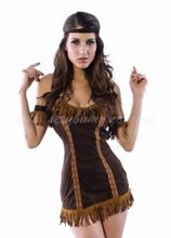 Fantastic Indian Princess Cowgirl 6 Piece Costume - One size