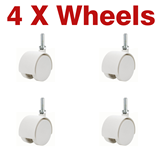 Air Conditioner White Wheels 40mm Caster