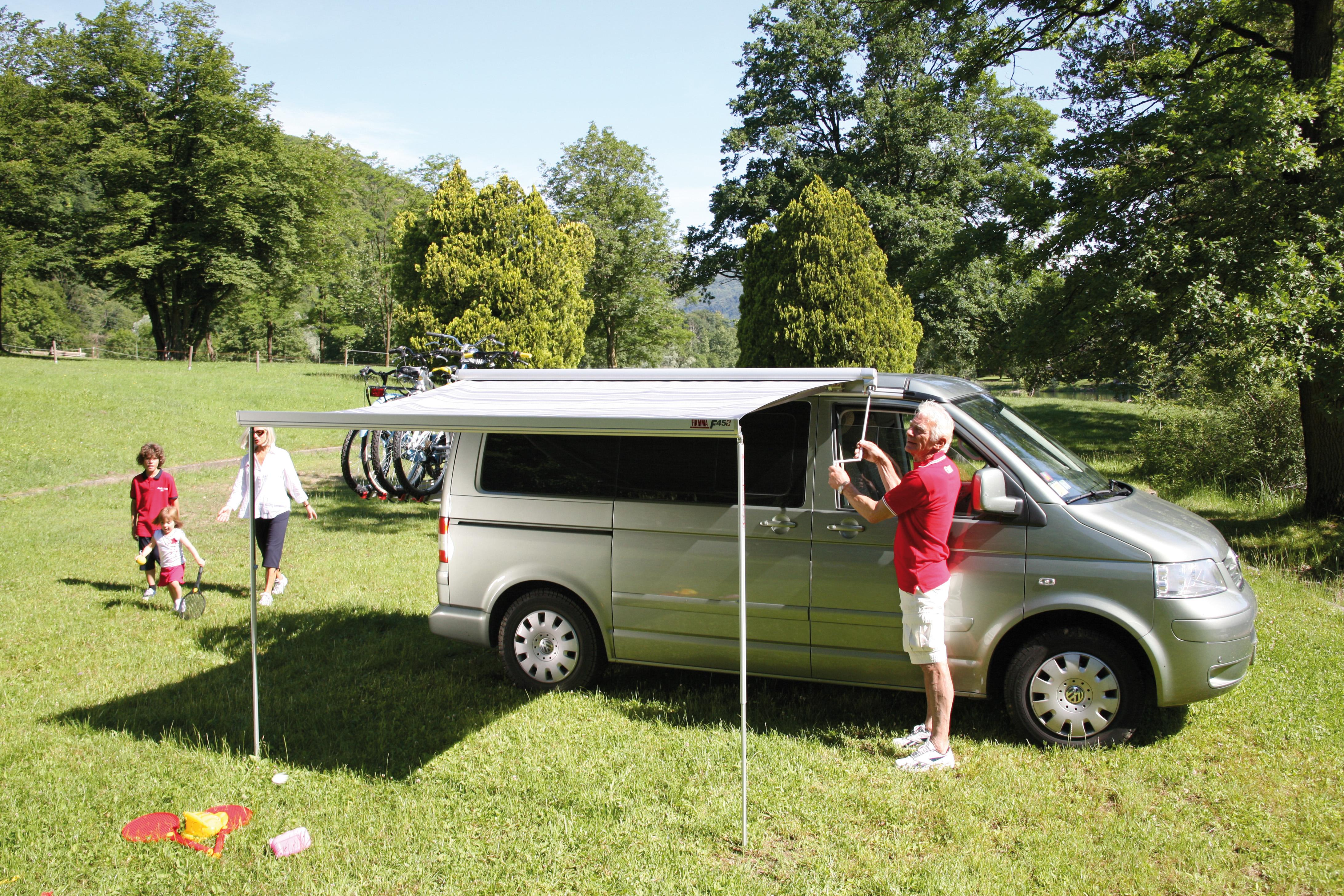 Fiamma F45s Awning 260cm Black Case With A Royal Grey