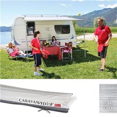Fiamma Caravanstore 255 awning - Royal Grey Canopy