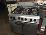 FALCON DOMINATOR GAS COOKER 6 BURNER WITH GAS OVEN UNDERNEATH TAKEAWAY