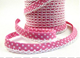 Candy pink spot lace bias binding (double fold) PRICED PER METRE
