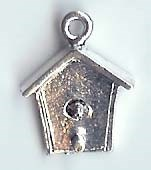 Birdhouse charm 1cm (hollow back)