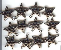 Star charm (with punched stars&hearts)