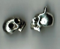 Skull charms - choose either solid or cutout temple