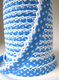 Sky blue lace bias binding (double fold) PRICED PER METRE
