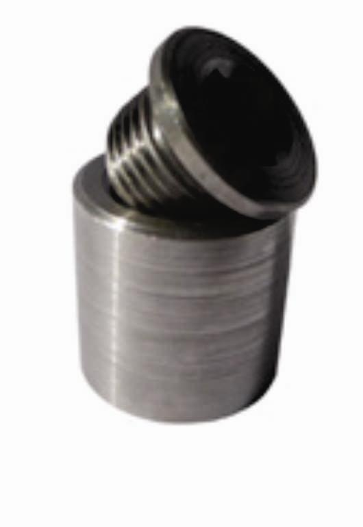 Extended Bung & Plug (1 inch) Stainless Steel 3838