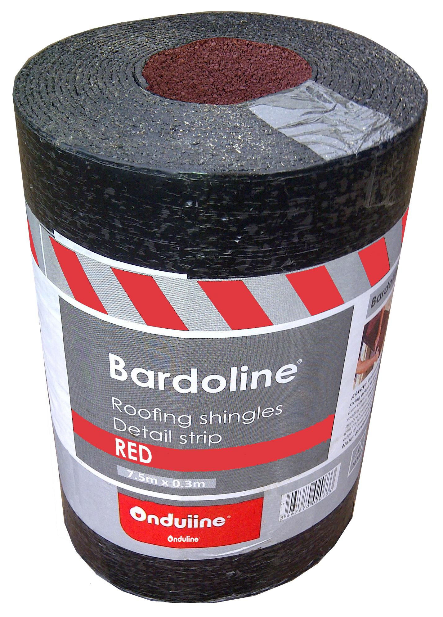 Bardoline Roofing Shingles Detail Strip Roll Red
