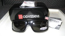 Odyssey Groove Black Solid Polarised Sunglasses