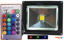 10W RGB Colour Changing LED FLOODLIGHT 240V VBLFL-832-4C