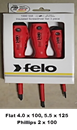 Felo 51393114 3 Piece 1000V Insulated Screwdriver Set