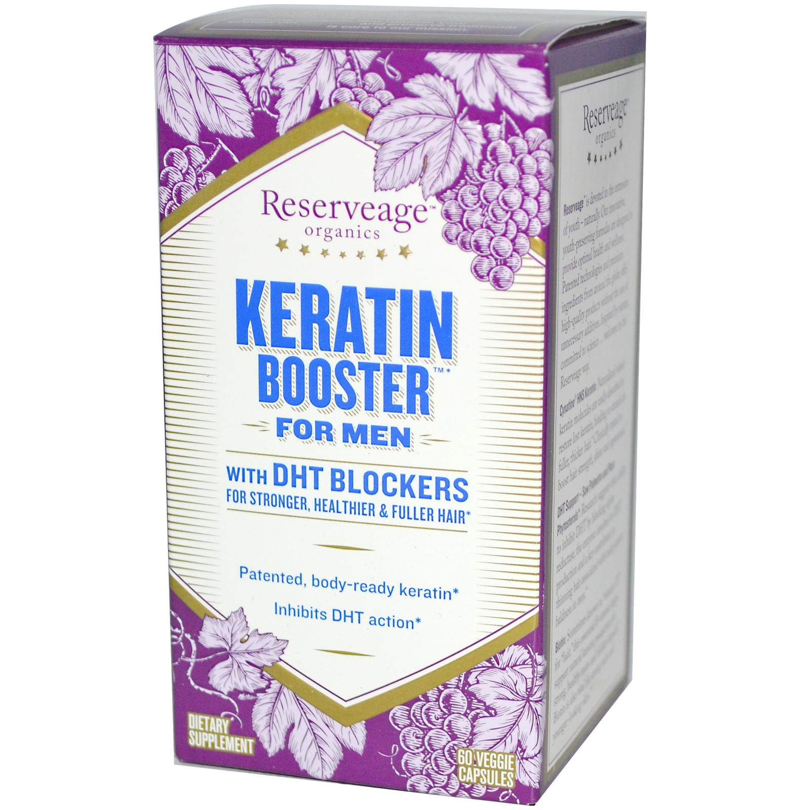 Reserveage Nutrition Keratin Booster For Men 60 Veggie Caps