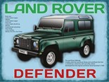 Land Rover - Defender- Metal Wall Sign (2 sizes)