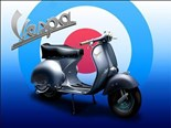 Vespa Scooter ' Target'  A5 Metal Wall Sign