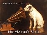 HMV Dog and Gramophone A3 Tin Sign