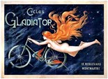 Cycles Gladiator - A3 Metal Sign