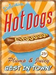 NEW IN.. Hot Dogs -  Metal Wall Sign (3 sizes)