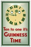 SALE PRICE..Guinness 'Ten to One'' Metal Wall Sign