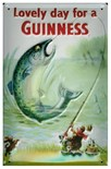 SALE PRICE..Guinness 'Big Fish' Metal Wall Sign