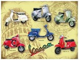 Vespa Scooter(Collage)  Metal Wall Sign (2 sizes)
