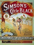 Simpson's Cycle Black - Metal Wall Sign (2 sizes)