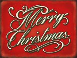 NEW IN.. Merry Christmas -  Metal Wall Sign (3 sizes)