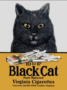 Black Cat Cigarettes  A3 Tin Sign