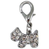 Dog Crystal Collar Charm