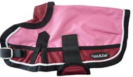 Waterproof Dog Coat 3022 (Small and Medium Doggies) Red/ Pink