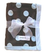 Blue/Brown Dots Minky Blanket