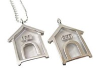 Sterling Silver Doghouse Pendant