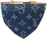 Designer LV Denim/Leather Pet Collar Scarf