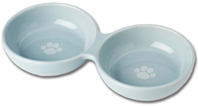 Wubbys Duo Ceramic Pet Bowl (Blue)
