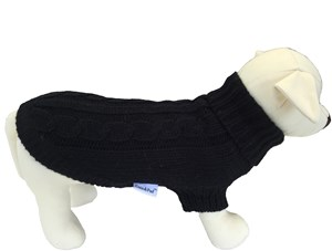 Handknitted Brighton Dog Sweater - Black