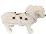 Handknitted Paris Cream Dog Sweater