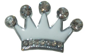 Crown Crystal Slide Charm (Clear)