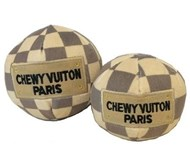 Checker Chewy Vuiton Ball Designer Toy
