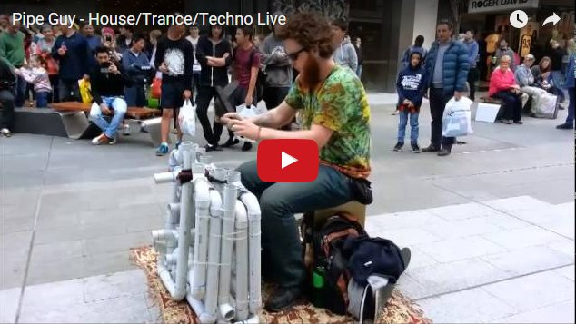 PVC Pipes + Two Thongs = Awesome Techno Music!