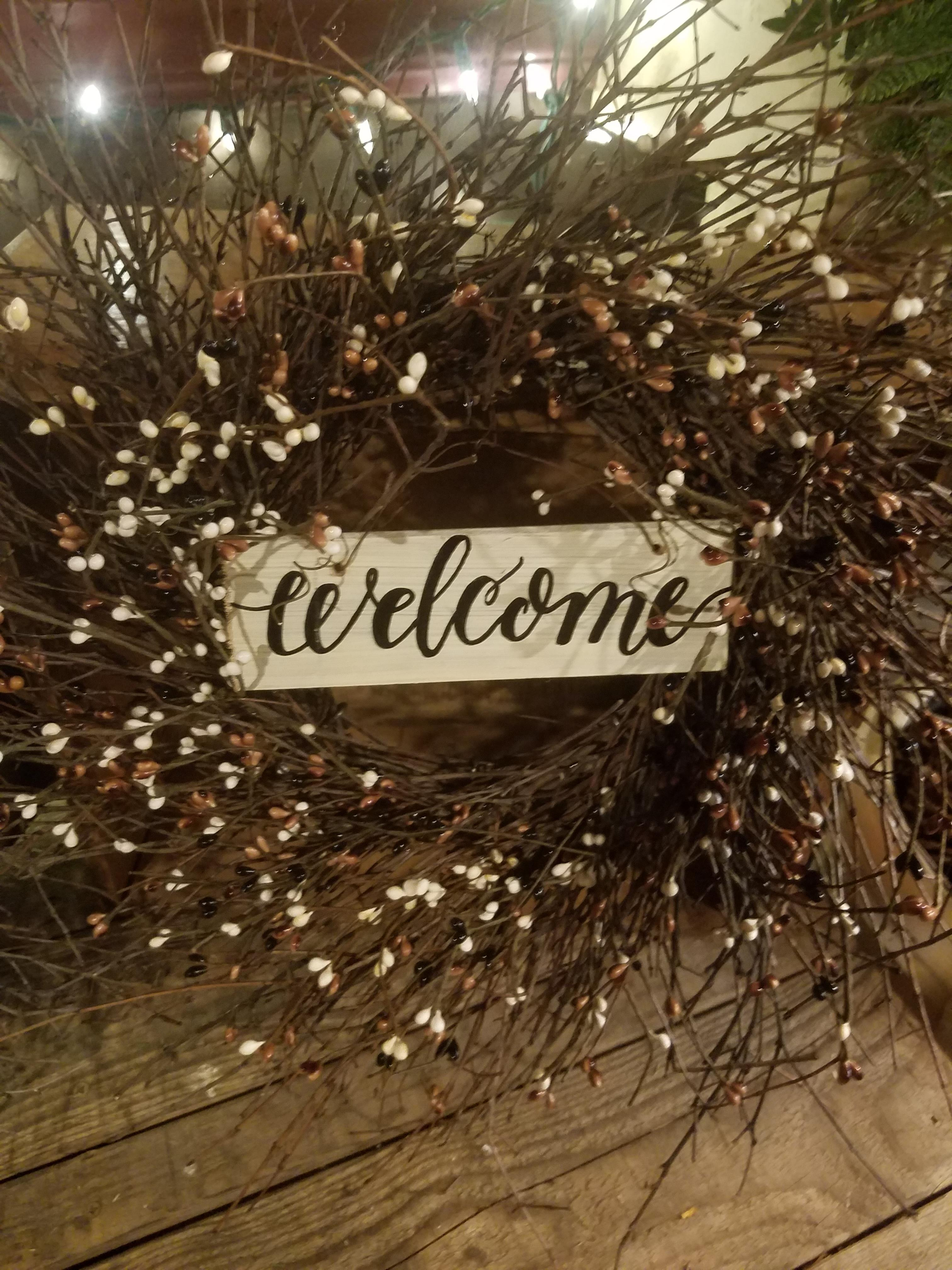Welcome Sign Wreath 22 Quot Jill S Twig Wreaths Americana