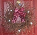 Americana Flag Wreath w/ Stars