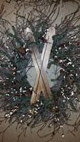 Winter Wreath with Skis