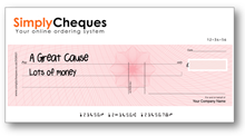 Large Promotional Cheque