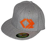 Heather Gray Flexfit, Flat Brim Hat