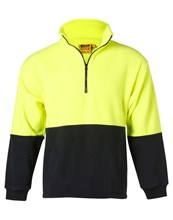BASIC HI VIS 1/2 ZIP POLAR FLEECE PULLOVER