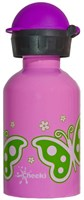 CHEEKI 350 ml BUTTERFLY KIDS STAINLESS STEEL WATER BOTTLE BPA FREE TWIST LID