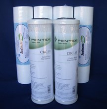 2 x PENTEK CBC-10  0.5 Micron Carbon Block Water Filter & 4 x ITM Sediment Filter Water Filter Replacement Cartridge Pack