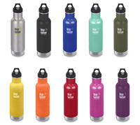 Klean Kanteen 20 oz 592 ml Insulated Classic Stainless Steel Bottle - Choice of 10 Designs
