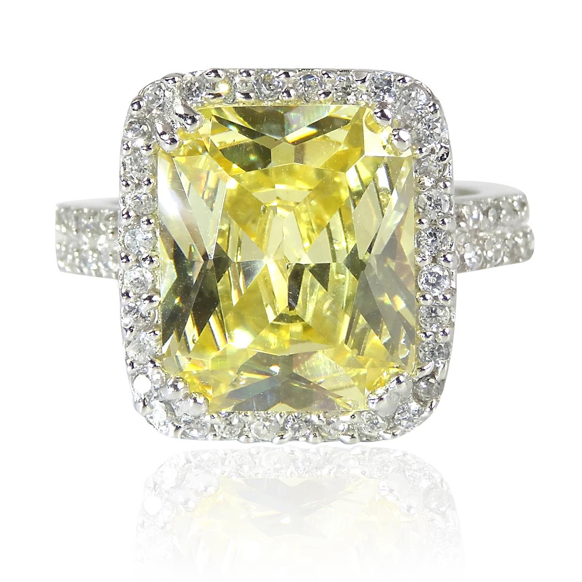 canary ring brilliant p radiant htm diamond cut platinum stone