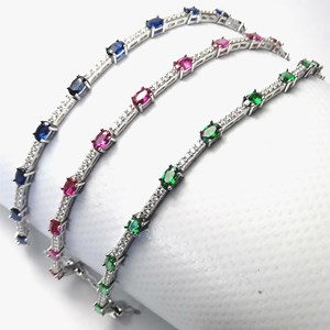 NEW - The Oval Gemstone Tennis Bracelet